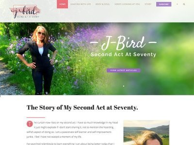 Wordpress Blog Site | JBird - Second Act at Seventy