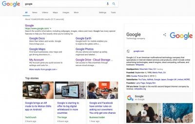Google Search to Show SERP Features