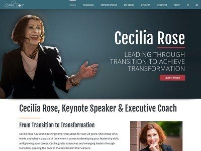Wordpress Websites for Keynote Speaker Cecilia Rose